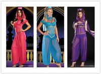 Fantasy  Princess Jasmine Costumes For Women Dance Exotic Sexy Belly Dancer Arabian Girl Costumes Arabic