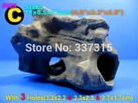 Hotsale MF Aquarium Ornament Decoration Fish Tank Cichlid Stone Shrimp Breeding free shipping