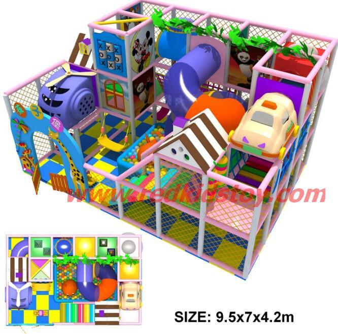2014 projeto intransponível para interior macio reprodução / Bright cores Kids impertinente castelo / Three piso Indoor Play Set direto de fábrica(China (Mainland))