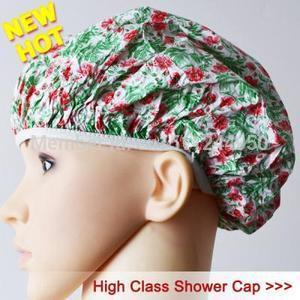 Flower Plastic Shower Cap Nurses Scrub Cap Style A104 aGar(China (Mainland))