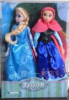 2014 Hot Sale Frozen Girls 33cm Frozen Queen Elsa Princess Anna Doll Brinquedos toys 2pcs Set no original box Free Shipping