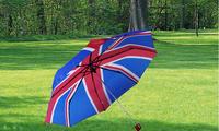 Free Shipping Union Jack umbrella - New England flag decorated umbrella - Sunny and Rainy Folding Unbrella