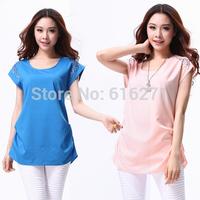 Free shipping New 2014 spring summer chiffon shirt women blouse plus size chiffon blouses women clothing ladies blouses B050