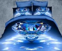 Diamond Queen Size 100% Cotton bedding Include Duvet cover Bed sheet pillowcase Free shipping