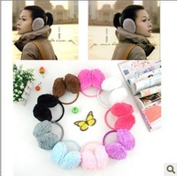 1pcs 2.99$ many color choose  children Thermal plush earmuffs autumn and winter thermal chromophous Earmuffs cover earcap