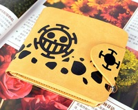 New One Piece Seven Wu Hai pirates regiment of hearts Trafalgar Law wallets  Anime Products