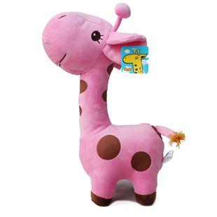 Stuffed animal plush 45cm cute pink giraffe toy doll high quality gift present w1048(China (Mainland))