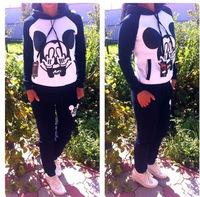 Women's Sets Mickey Mouse Sweatshirt tracksuit sport Suit MICKEY Sweater Pullover Hoody Hoodies Sportswear Costume