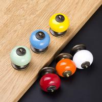 20pcs Tower Type Single Hole Ceramic Knobs Colorful Furniture Cabinet Kitchen Door Handles Antique Dresser Pulls