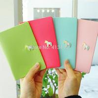 Donbook Sweet Horse Travel Passport bags, Small Horse Document Folder,Credit Card Case Holder bag
