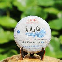 White moonlight puer raw tea 100g,yunnan pu'er sheng cha,organic chinese puerh brick qizi teas slimming products,pu er seven tea