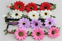 10pcs/lot Fashion sunflowers bohmian beach accessories hairband Garland Sun Flower Floral headband Hair Ornaments Free Shipping