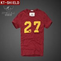 Free shipping New 2014 summer dress men shirt brand tshirt casual men Short sleeve Cotton Star T shirt Fashion S-XXL KT03