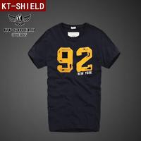 summer dress 2014 men shirt brand tshirt Streetwear Short sleeve Cotton Printing Embroidery T shirt S-XXL KT03 Free shipping
