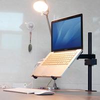 Laptop radiator mount ofhead desktop folding table lift lounged bracket