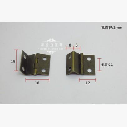 50Pcs Mini The three open hinge antique hinge Bronze hinge Arts and crafts hinge19X18X0.5 copper gold small hinge(China (Mainland))