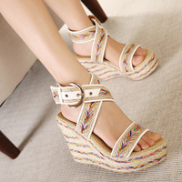 Free shipping women sandals new  waterproof sandals  simple Korean wedges shoes