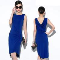 Free shipping new 2014 long women summer dress fashion cotton casual dress vestidos dress party evening elegant