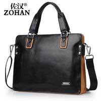 Man bag cowhide male casual shoulder bag handbag business bag