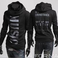 Free Shipping Men's Top Brand New Winter Sweater Hoodies Dress Coat Mens Sports Casual Sweatshirt Jackets Outerwear M-XXL