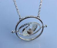 2014 New Arrival Silver color  Harry Potter Necklace Time Turner Necklace Hermione Granger