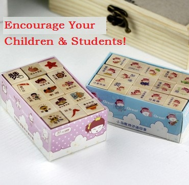New Creative Cute Girl & Horse Encourage Wooden Stamp Set/funny Work/Fashion gift/wholesale(China (Mainland))