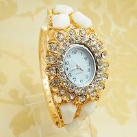 Wholesale Women Nice dress Crystal Bangle Watch Ladies Cuff Quartz Watch 4 Design PB-5