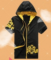 New One Piece short Sweater Trafalgar Law Pure cotton padded cap unlined upper garment of anime coat COS clothing