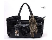 2014 women alligator bag fashion women shoulder bag handbag alligator handbag zipper pu leather free shipping