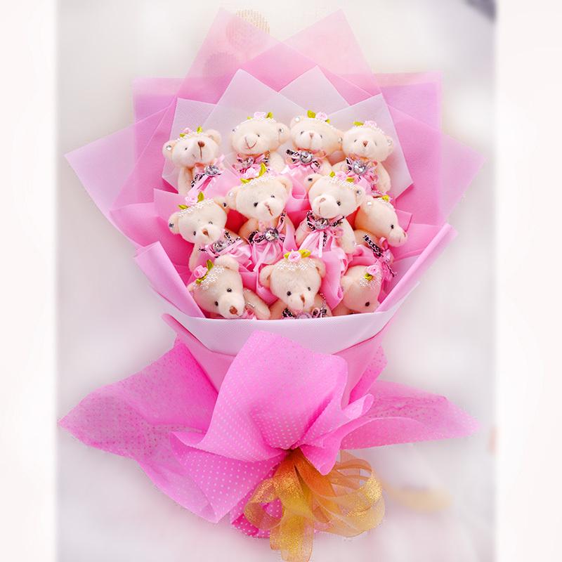 Aliexpress.com : Buy Free shipping toy bouquet bear 11 Pink cute ...