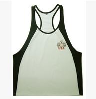 2014 summer Men gym slim top tank singlet men Wear sport muscle shirt bodybuilding clothing fitness Brand cotton sleeveless vest