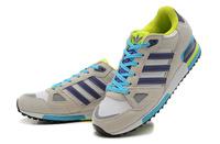 Adidas оригинальный классический zx750 мужчин кроссовки, модные замшевые кроссовки, темно синяя спортивная обувь с белой линии нам size7-10