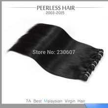 Wholesale Price 6A Ma-laysia Silky Straight 3Pcs Lot 1B Natural Black Hu-man Vir-gin Hair Extension Weave Bundle Deals 12 To 28(China (Mainland))