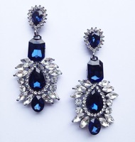2014 New Arrival statement big crystal shourouk stud Earrings for women girl party earring Factory Price earring wholesale
