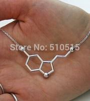 5-HT Happy Hormone Serotonin Molecule Pendant Necklace
