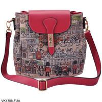 Desigual Bag  2014 Women Messenger Bags Cartoon images Crossbody small Bags For Women Designer Handbags High Quality