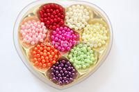 Imitation Pearl Round Beads 6mm Acrylic beads 1000pcs 17 colors Upick