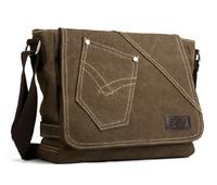 Hot sale men cotton canvas messenger bags campus students school organizer bag men's leisure fashion shoulder bag  free shipping