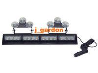 car styling parking car covers 16 LED Light 3W Windshield Emergency Light Strobe Light LightBar JN16-3W Red/White