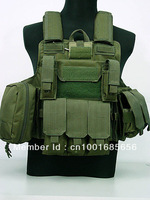 Molle Combat Strike Plate Carrier CIRAS Vest OD