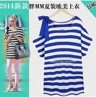 Plus size clothing 200 mm summer fashion top plus size plus size short-sleeve cotton t-shirt ,4XL