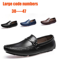 2013 new best quality Genuine Leather men flats casual shoes Soft Loafers Sneakers Comfortable Driving Shoes Free shipping