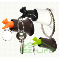 5 pieces/lot Cute squirrel wall key chain hang / home decoration crafts  key ring, novelty items and unique gift wholesale