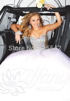 Elegant Rhinestone Stone Ball-Gown Bridal Dresses Sweetheart Sleeveless Tulle Floor Length Wedding Dresses Custom