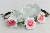 10pcs Fashion Girl's Rose flowers bohmian hair accessories headbands Garland Flower Floral headbands Hair Ornament Free Shipping