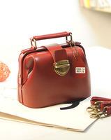 2014 female fashion genuine leather small bags vintage Wine red portable women's handbag shoulder bag messenger bag