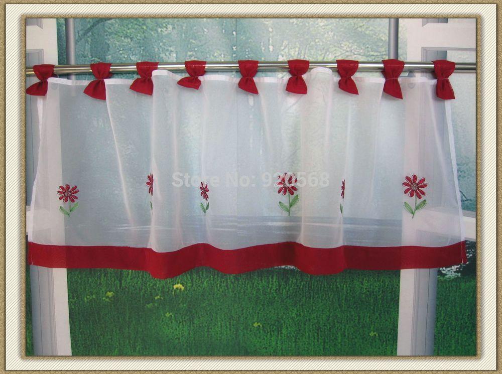 kitchen curtain coffee curtain 50 145 red yellow china mainland