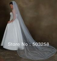 V22 Fashional 2011 white long wedding veil,cathedral wedding veil