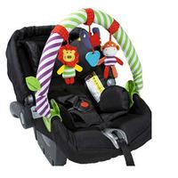 Mamas & papas small animal cotton child stroller car clip car hanging baby toys car music clip stroller accessories