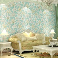 Free shipping, High Quality Relief Lotus 10m/roll Wallpaper